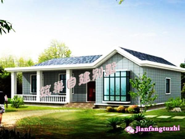 10万左右15x10米一层农村别墅设计图全套cad图纸