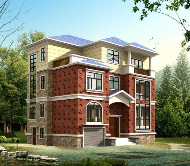 两套农村小型经济实用型别墅设计图纸,一栋两层一栋三层带有车库