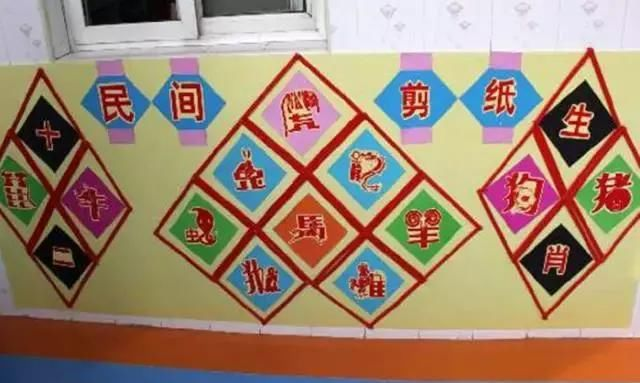 幼儿园中国风青花瓷主题墙