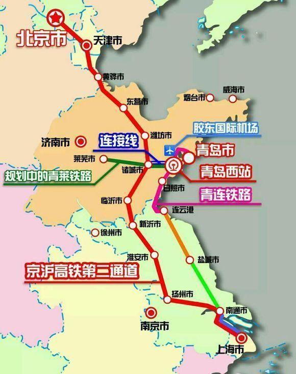 青岛西经潍坊诸城至京沪二线连接线被列为山东新旧动能重点项目