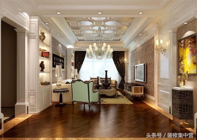 本案由北京龙发装饰设计 设计说明:欧式风格的装修在时下是比较流行的,人们对欧式风格的第一印象就是色彩艳丽和精致奢华。而欧式风格也主要运用在很多别墅或者酒店的设计上,强调通过华丽的装饰、复杂的线条设计感家具、精美的造型设计以及大胆的色彩运用来给人雍容华贵和浪漫的感觉,尽显欧式贵族的生活。