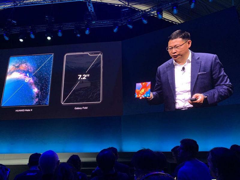 最前线 华为发布折叠屏手机MateX,号称全球最