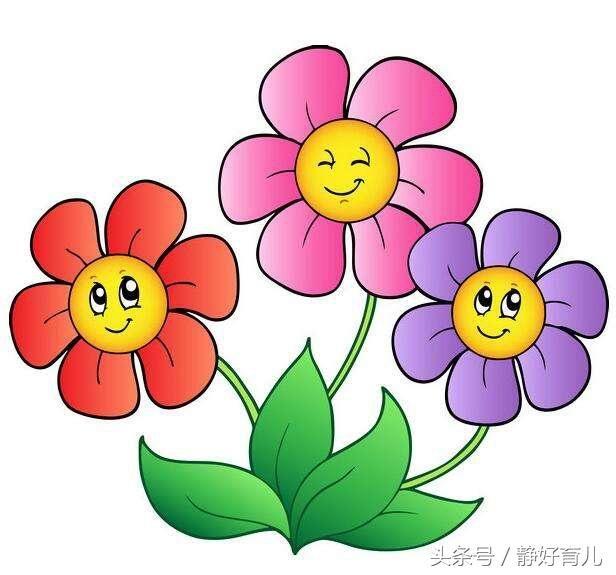 这几款花朵主题简笔画,家长老师请收好!助宝宝很快学会画花朵!