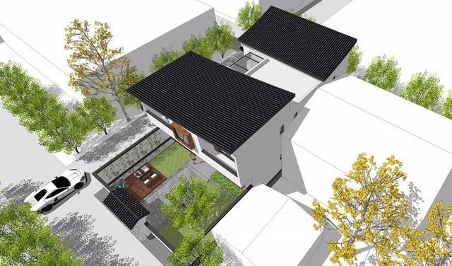 新中式农村自建别墅,适合咱们农村盖,设有中庭,前后院图片