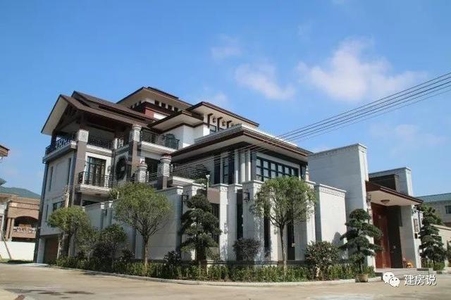 这款新中式农村,在当地别墅堪称最美别墅别墅住自图片农村图片