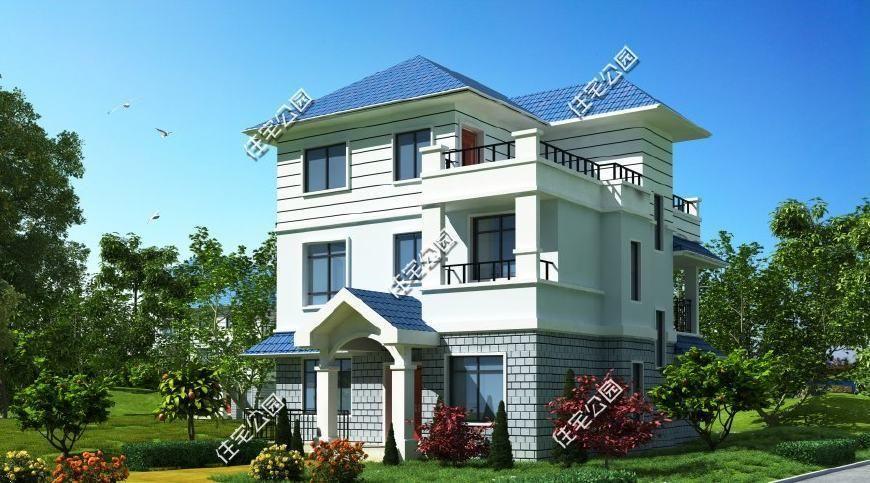 层农村双拼兄弟别墅农村两层欧式别墅设计图纸农村别墅如何建地下室
