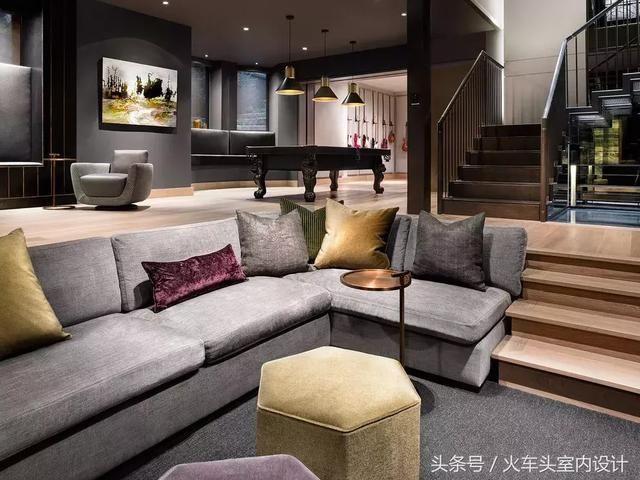 你肯定不知道,下沉式的客厅设计有多美图片