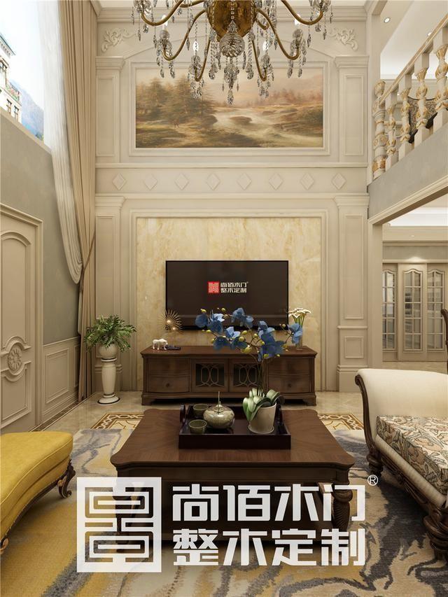 以品质点缀生活,江苏新沂挑高别墅120欧式风格整木效果图
