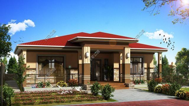 农村自建房平房户型3套含平面图,建房为养老,还是平层好