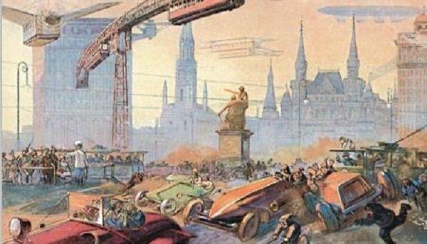 一百年后的莫斯科会怎样?1914年一组明信片做了很多预言