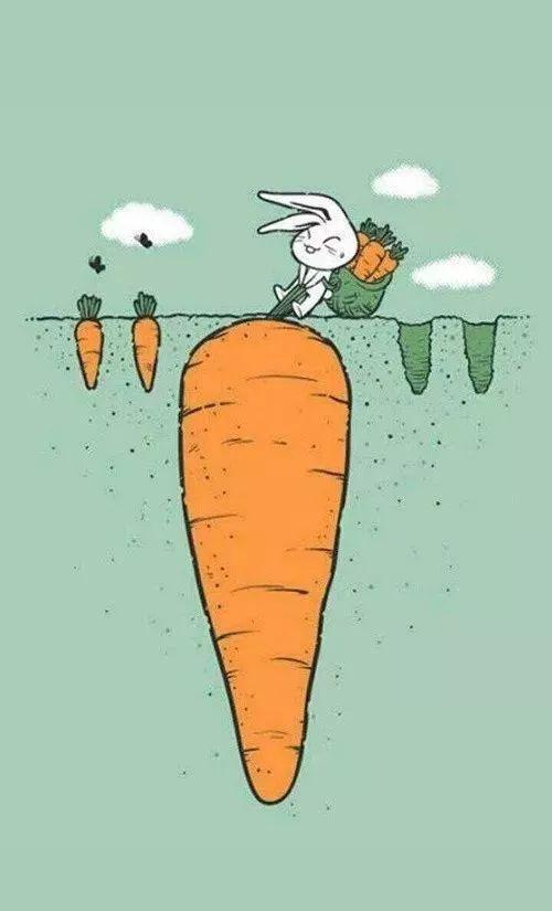 好巧不巧,景甜出了名的爱兔子和胡萝卜,微博日常也是两句话不离兔子.