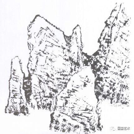 园林石头卡通画法图片