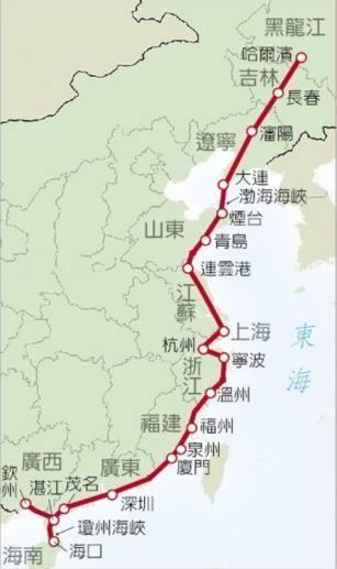 目前山东和江苏规划在建的,有青岛经日照至连云港的高速铁路,以及