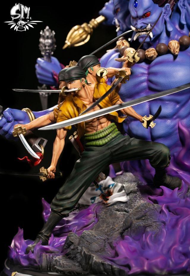 海贼王 索隆新手办发布 九刀流加持,背靠阿修罗威猛无比