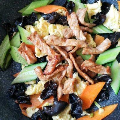 好吃不过家常菜--木须肉#硬核菜谱制作人#蒜香基围虾的做法图片