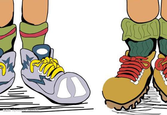 幼儿园中班社会领域优秀教案《鞋子游戏真有趣》
