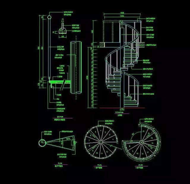室内设计楼梯:120套资源详细CAD施工图+CAword删除cad图片图片