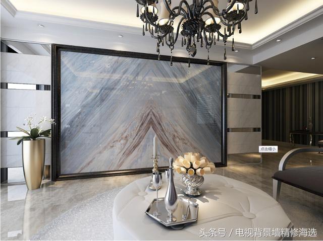 电视背景墙的包边线条边框装饰,可以用哪些材料