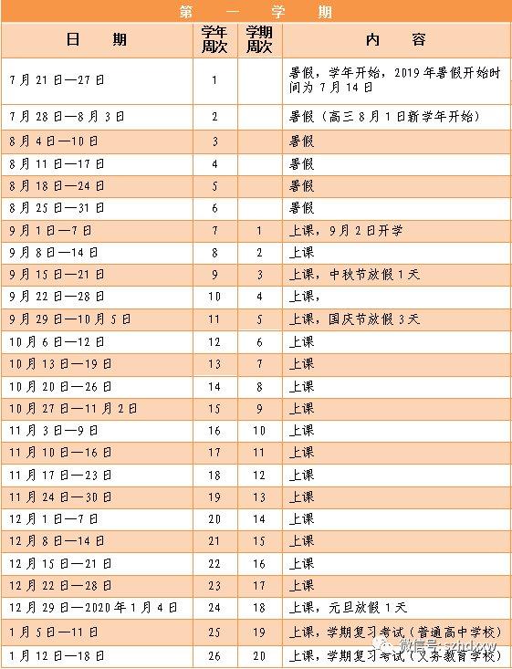 2019深圳市中小学放假时间表,寒假暑假放假时图片拼音bpmf小学图片