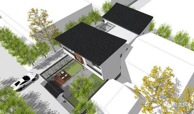 项目名称:江苏扬州新中式别墅项目 项目地点:江苏扬州 项目建筑面积:283m 建筑尺寸:22.3X11.8米 建筑结构:框架结构 易盖房区域设计机构:北京殊舍建筑 项目负责人:杨洋 建筑师:杨洋、范亚鹏 项目概况 业主想要尽量用满整个用地面积 且需要考虑周边邻居的高度和距离 前院后院及天井组成了丰富的庭院空间 可满足住户各种生活要求 粉墙黛瓦,移院一景 最能唤起对老家的记忆 要求4间卧室 一间长辈房,一间带独立卫生间主卧 和一间阳光房等 基地情况 该项目位于江苏扬州,场地规模22.