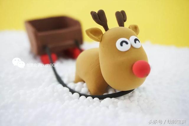 幼儿园圣诞节手工|捏呀捏,这些纸粘土让孩子开心到冒泡!