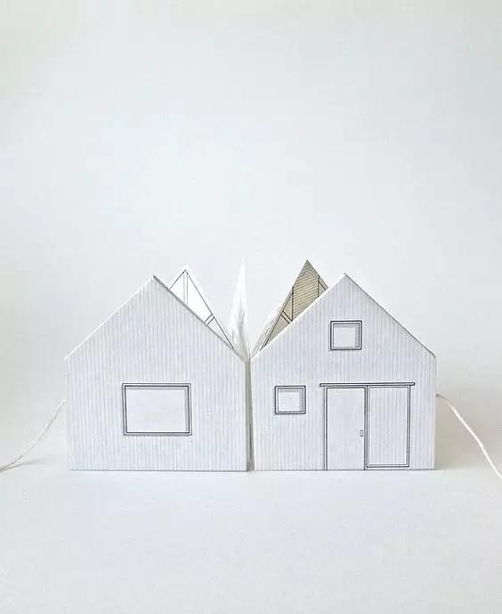 两张a4纸就能搞定,有趣的立体纸房子
