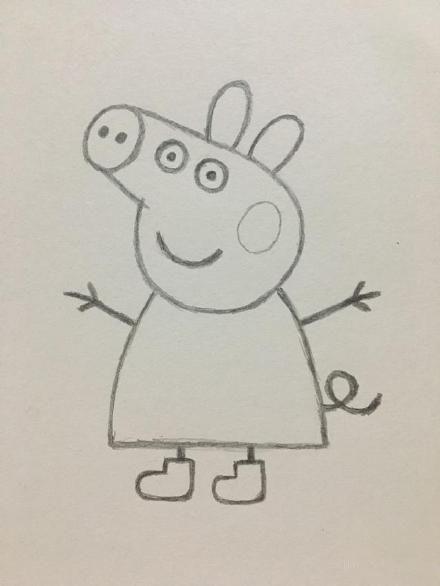 8,最后我们还可以给小猪佩奇营造一点氛围哦,好啦小猪佩奇的简笔画就