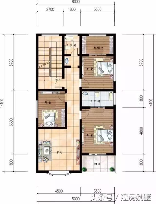 農村平房設計圖紙8米寬,12米長,坐東向西,三房一廳…2557求農村自建房