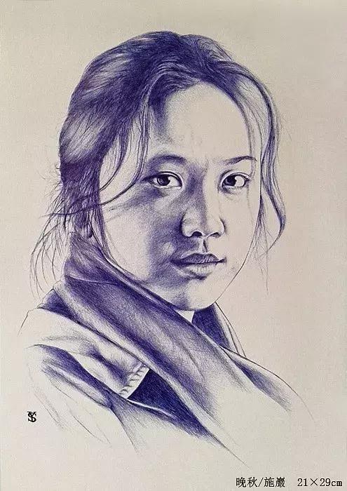 详细教程步骤|圆珠笔如何画人物肖像
