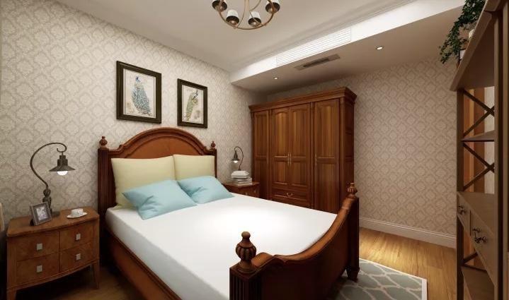中车国际180平米美式风格装修效果图--卧室