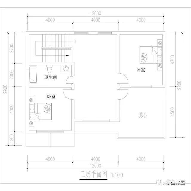 12米x10米,浙江40万自建欧式别墅,农村自建房可参考