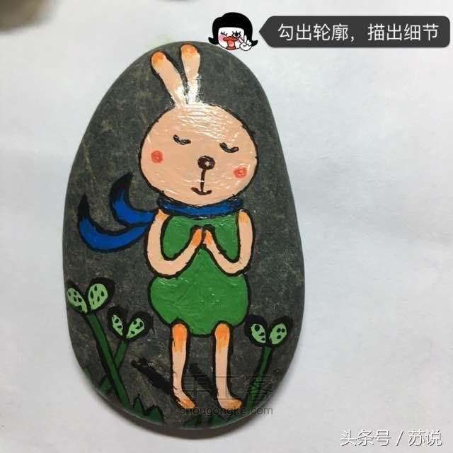 小石头大创意,超多石头画带教程,宝妈幼儿园亲子手工必备快收藏图片