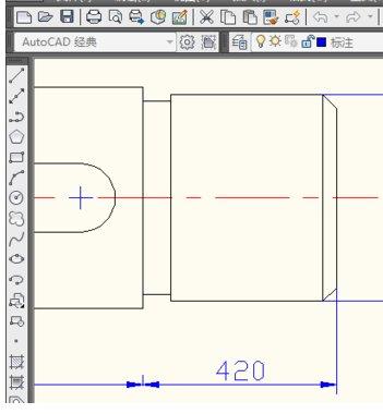 CAD修改标注的尺寸值cad三维投影图片