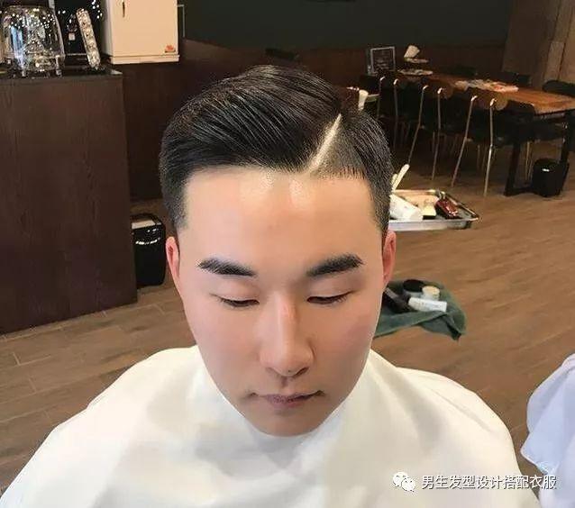 """2018潮流男生短发发型""""大背头偏分头油""""!图片"""