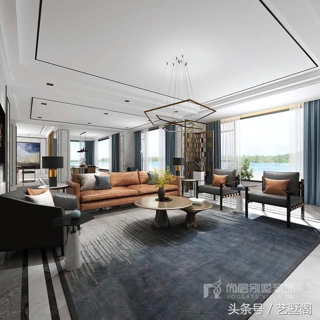 杭州600港式别墅设计丨静敛琉光