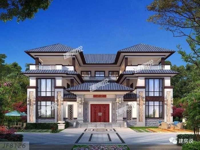 一款别墅, 一个欧式外观, 一个新中式外观, 你中意哪款?