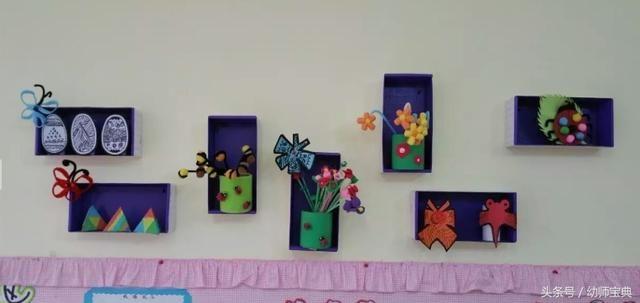 有适合平面,立体作品展示的平台: 幼儿园美工区活动是幼儿园美工教学