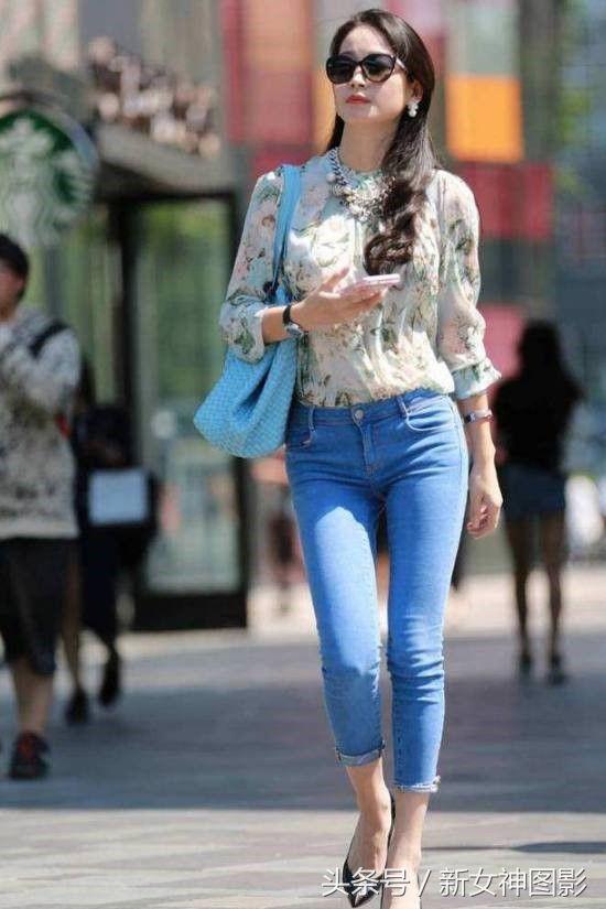 高质量街拍动态:这五个小姐姐,哪个让你停留a动态图日本美女美女图片