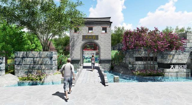 室外园林欧式拱形门洞