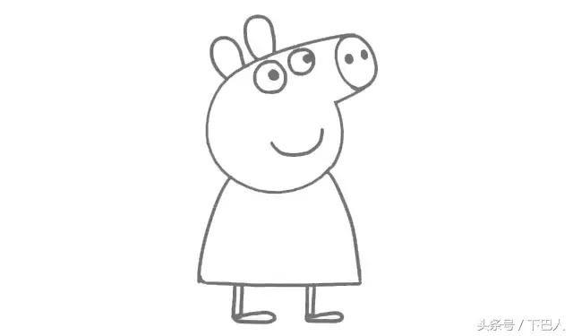 小猪佩奇彩铅简笔画教程