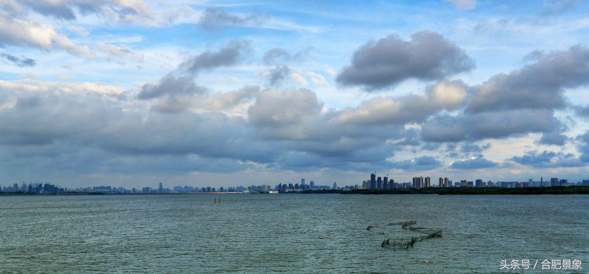 合肥科学岛,傍晚雨后,美丽的天空美景,大气磅礴,壮观!
