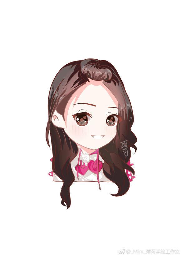 手绘卡通q版迪丽热巴,网友:真是太可爱了,好萌