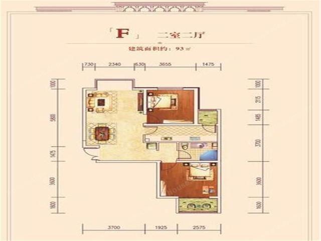 北京御湖湾大户型三居室约22000元