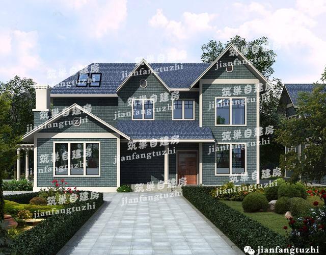 2款两层半欧式农村别墅设计图15x11,造价预算40万(全套施工图)