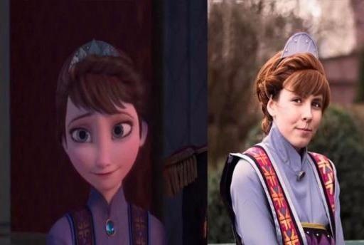 现实版本迪士尼公主,冰雪女王的美貌遗传自母亲,安娜甜美似初恋