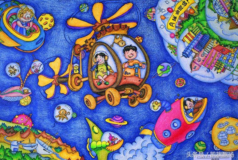 大班幼儿绘画获奖作品图片_大班幼儿美术范画图片