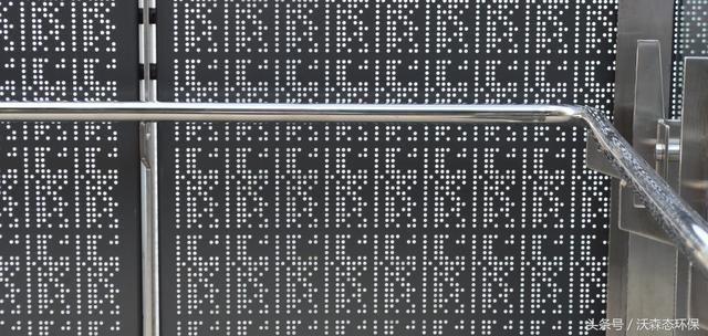 穿孔金属栏杆面板和屏风;为所有用户提供了方便的通道