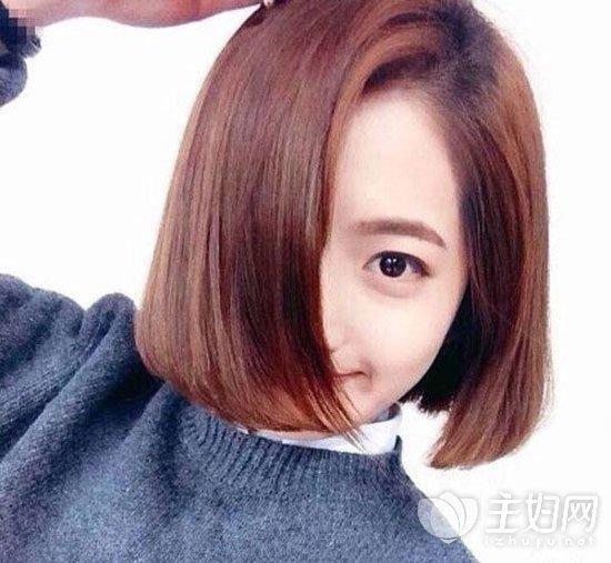 很适合学生妹的一款女学生短发发型,不仅非常好打理还不失时尚感,短图片