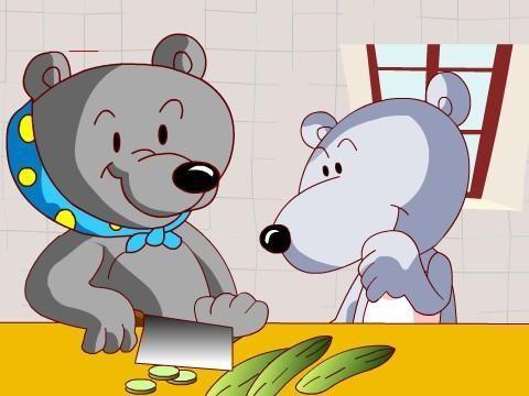 让幼儿认识小动物及小动物最爱吃的食物2.
