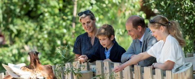 女王最小的儿子爱德华王子,罕见的全家出现在动物园活动上!
